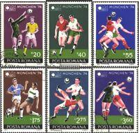 Rumänien 3203-3208 (kompl.Ausg.) gestempelt 1974 Fußballweltmeisterschaft 1974