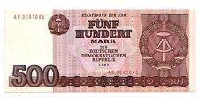Germania Democratica DDR  500  marchi 1985     FDS  UNC    pick 33   lotto 3648