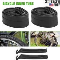 "2 PACK 26"" x1.95/2.125 Bicycle Inner Tubes Schrader Valve for Mountain Bike Tire"