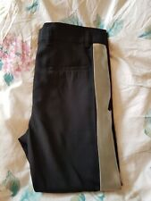 Haider Ackermann Orbai black & silver side-stripe women's trousers size 38 / 10