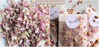Biodegradable Petal Flower Confetti Pink Ivory Lace Rose Petals 50 Bags