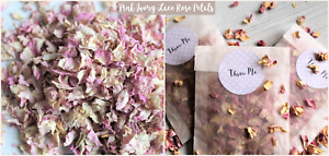 Biodegradable Petal Flower Confetti Pink Ivory Lace Rose Petals 10 Bags