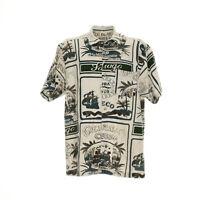 Tom Tailor Herren Hemd Größe L Freizeit Shirt Retro Vintage Muster Kurzarm