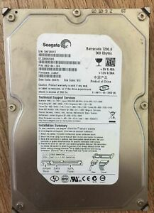 "Seagate 300 GB HDD 3.5"" SATA Hard Drive PC Internal Hard Disk"