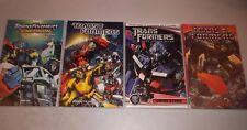 Transformers TPB (Lot of 4) Robots In Disguise, Energon, Dinobots, Dark Moon