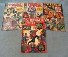 Strange Tales 141 142 143 145 Marvel Silver age Comic Lot 4 1st Mentallo Fixer #