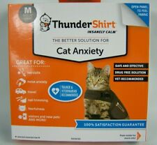 Thunder Shirt Cat Anxiety Medium 9-13 Lbs Solid Gray Weather Fireworks Travel