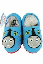 BOYS BLUE OFFICIAL THOMAS THE TANK ENGINE 3D SLIP ON SLIPPERS INFANTS SIZE 6-7