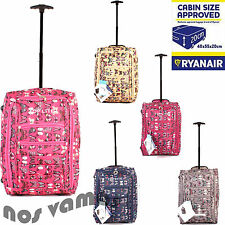 Women's Synthetic Suitcases with Extra Compartments