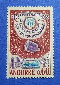 1965 ANDORRA FRENCH 60c SCOTT# 167 MICHEL # 193 UNUSED                   CS28315