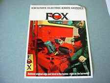 Fox Electric Knife Grinder Brochure from 1969