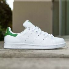 🟢 Adidas Originals Stan Smith Men's Athletic Tennis Shoe White Green Sneaker