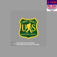Us Forest Service Bigfoot Dept Camp 4 Stickers 4x4 Inch Sticker Decal