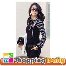 Unbranded Polyester Striped Long Sleeve Women's Tops & Blouses