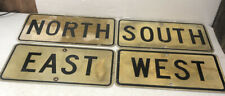 Old Vintage Retired Texas Set Of 4 North West East South Highway Signs 24 X 12�