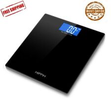 LCD Glass Digital Bathroom Scale 400lbs Body Weight Electronic Fitness balance