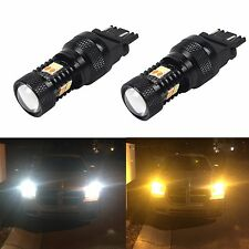 JDM ASTAR 2x 3157 LED Switchback 3030 SMD Super White Yellow Turn Signal Lights