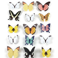 15pcs DIY 3D Butterfly Wall Stickers Art Decal Paper Butterflies Home Decor hC E