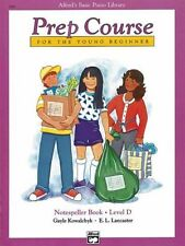 """ALFRED'S BASIC PIANO PREP COURSE """"NOTESPELLER"""" MUSIC BOOK LEVEL D BRAND NEW SALE"""