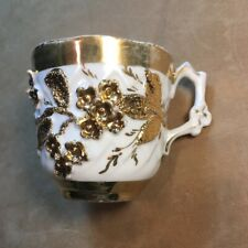 Crazy Gold and White Mustache Cup