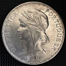 PORTUGAL 1 ESCUDO 1916 SUPERBE
