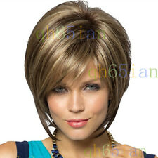 2014 New Straight short brown mix Wigs Fashion Short Women's Wig + Free wig cap