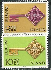 ISLANDIA EUROPA cept 1968 Sin Fijasellos MNH
