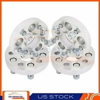 """(4) 1"""" 25mm Thick Wheel Spacers 5x100 5 Lugs 12x1.5 For 1995-2005 Dodge Neon"""