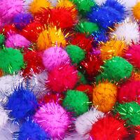 Luxury Rainbow Multitone Craft Pom Poms25 Pack