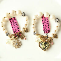 New Betsey Johnson Elastic Bracelet Fashion Women Party Jewelry 2styles Chosen