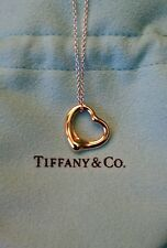 NEW Tiffany & Co. Elsa Peretti 18K Rose Gold Small Open Heart Pendant
