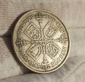 George V .5 Silver 1930 Florin In Good Collectable Condition. L22