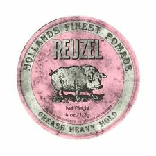 Reuzel Pink Pig Heavy Hold Pomade Grease Hair Oil Based Styling Product 4oz 113g