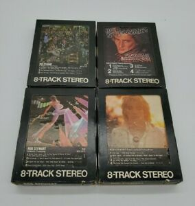 Lot Of 4 Rod Stewart 8 Tracks: A Night On The Town, Foolish Behavior & More
