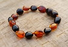 MAX SKIN CONTACT COGNAC & CHERRY CHILD BRACELET BALTIC AMBER necklace FREE POST
