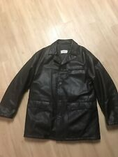 Gimo's Buttery Soft Leather Insulated CarCoat/Jacket Made In Italy Men's XL Long