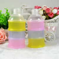 Portable Baby Feeding Milk Food Bottle Container 3 Cells Grid Practical Box JR