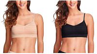 NWT!!! Woman 2 Pack Jockey Modern Micro Seamfree Strap Bralette Black / Light