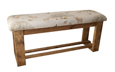 Tatton Fabric Wooden Upholstered Hallway/Dining Table Bench