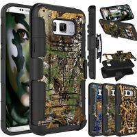 Military Shockproof Hybrid Camo Armor Holster Belt Clip Case Cover for Cellphone