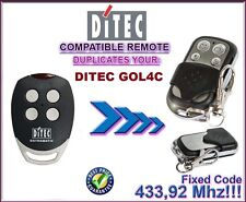 DITEC GOL4C Clone remote control, Replacement 433,92Mhz fixed code!!!