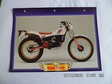 CARTE FICHE MOTO YAMAHA TY 250 R 1984