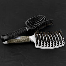 2x Curved Vented Detangling Paddle Hair Brush Fast Blow Dry Scalp Massage