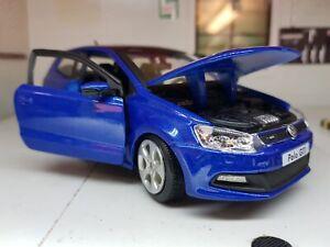 1:24 VW Polo Gti Mark 5 V Mk5 M5 21059 Bleu Burago Détaillé G LGB Maquette