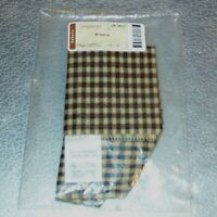 Longaberger Khaki Check BROWNIE Basket Liner ~ Brand New in Bag!