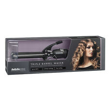 Babyliss Pro triple barril flaquear-Negro Oficial Babyliss Stock