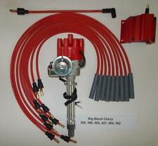CHEVY BIG BLOCK 396-427-454 RED FEMALE Small Cap HEI Distributor,Coil,PLUG WIRES