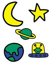 Green Martian Todd Parr Space Man Moon Stars World 25 New Wallies Decals Sticker