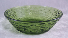 Vintage Anchor Hocking Avocado Green Soreno Cereal Bowl