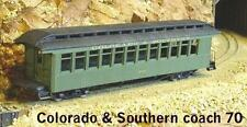 On3/On30 WISEMAN MODEL SERVICES COLORADO & SOUTHERN PASSENGER COACH #70 KIT